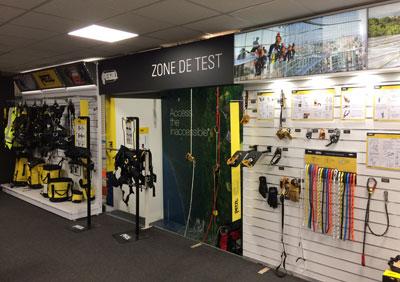 showroom zone de test sécurité contrôle qualité Godet