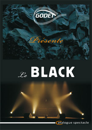 catalogue black scène et spectacle Godet