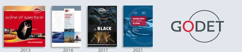 catalogues et logo Godet